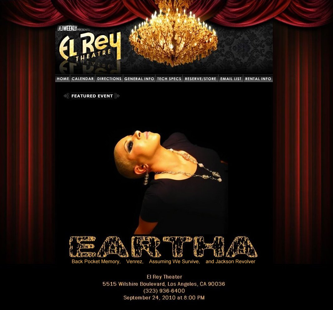Link to Eartha at El Rey Theatre